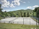 Two of the outdoor tennis courts within walking distance of the resort home