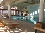Fantastic indoor pool complex with sauna, steam room, ho tub with aquamassage waterfall