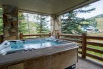 Hot Tub with View of Lift and Mountain