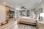 Master Bedroom Wood Burning Fireplace