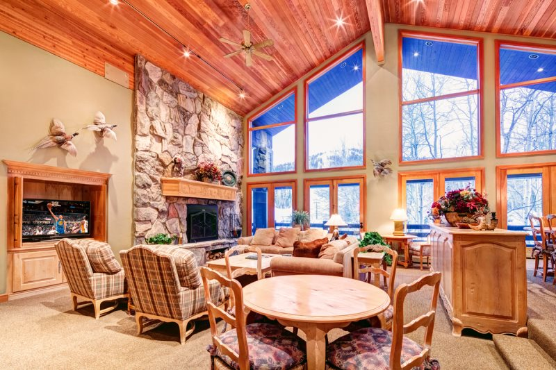 Living Room With View Up The Mountain