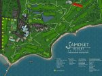 This resort map shows the location of the property with easy access to the Samoset`s Restaurant