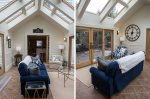 Sunroom with comfortable furnishings