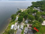 The cottage is close to the center of Bayside with the dock and beach