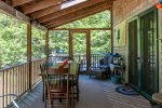 Screened in porch with outside dining option