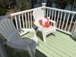 Great deck for grilling, cooking lobsters and meals outside