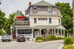 East Boothbay General Store is steps away for a coffee or delicious sandwich or baked good
