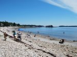 Crescent Beach is only steps from the cottage