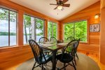 Views from sunroom dining area
