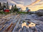 Pemaquid Lighthouse & beach is a 45 minute drive from the house