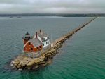 Downtown Rockland is a 5 minute drive or even walkable in about 15-20 minutes