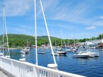 Camden lies at the foot of the Mt. Battie and the Camden Hills State Park with 28 miles of hiking trails