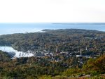 View from Mt` Battie overlooking Camden and Penobscot Bay.  Hike it or drive up the auto road