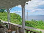 The cottages sits with open views of Penobscot Bay and Islesboro - The quiet Shore Road passes between the cottage and the ocean