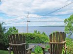 Views from the Adirondack chairs overlooking the bay