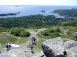 The Camden Hills State Park to the South has 28 miles of hiking - View from Mt. Battie - Hike or drive up