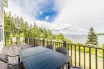 Deck off the main floor area with beautiful views