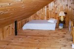 The Barn loft has a Full bed and a Twin bed. ONLY the Full bed is made with sheets. Guests are welcome to bring a sleeping bag for the Twin mattress.