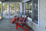 Screened porch on the Waterside of the Cottage