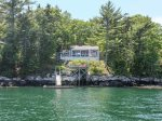 Views of Pine Cliff Cottage from the Water