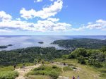 The view from Mount Battie in the Camden Hills State Park overlooking Camden and Penobscot Bay - Hike it or Drive up