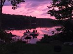 Stunning sunset over Megunticook Lake