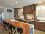 Well equipped kitchen with great seating and room for entertaining