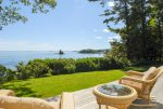 Panoramic ocean views of Penobscot Bay from the back deck
