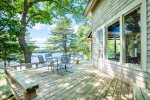 Dining area on back deck - overlooking the Kennebec River