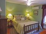 2nd floor north - Air conditioned guest room with Queen bed and TV
