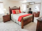 2nd Floor South - Air conditioned master suite with Queen bed & ensuite shower bathroom