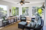 Comfortable 3 season sunroom with water views