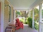 Classic New England covered porch for relaxing
