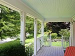 Step outside onto the covered porch