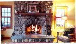 Moongate Lodge Fireplace