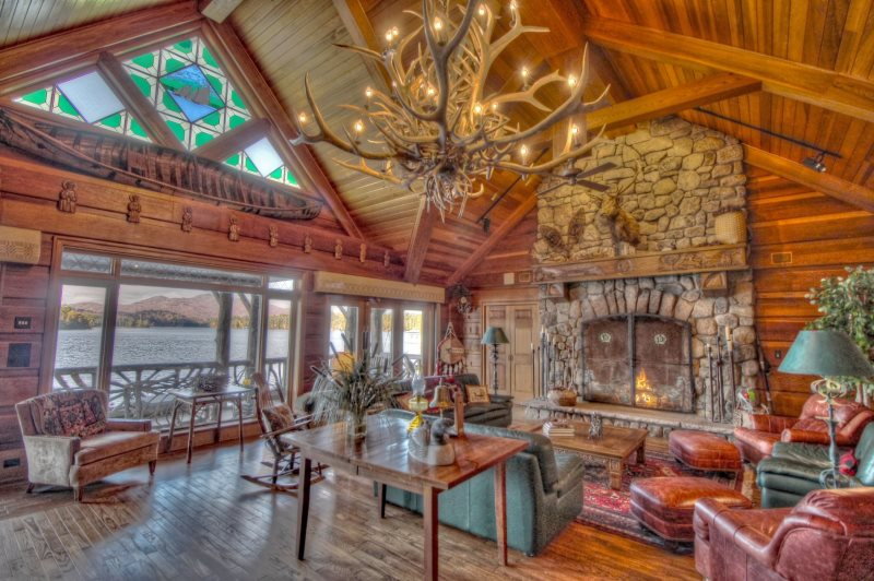 Adirondack Great Camp Vacation Rental on prestigious Upper