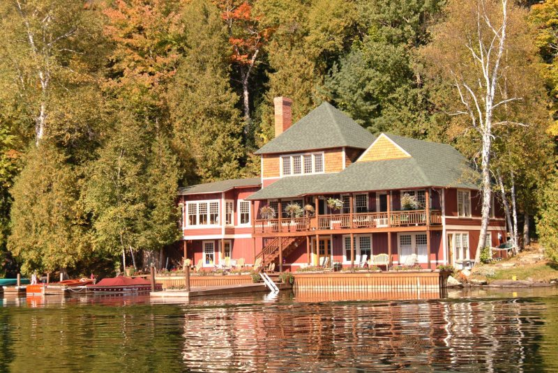 Camp Casino located on exclusive Lake Placid, 4 bedroom, 2.5 bath ...