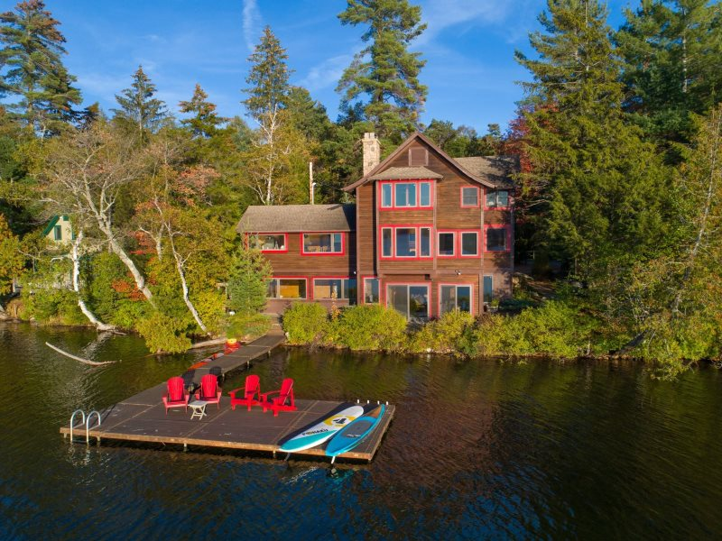 Lakeside Loj, Premier Lake Placid Vacation Rental, Water