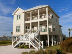 Orange Beach home steps to the beach! Large decks, spacious floor plan, upgraded interior!