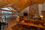 Dining Area with breathtaking views of Lake Burton