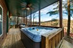 Above The Rest - Tranquil hillside cabin with hot tub overlooking Alpine Helen