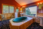 Garden Tub with Mountain View
