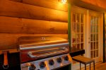 Hot tub on covered screen porch