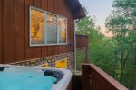 Hot Tub with views of Mount Yonah