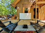 Large Porch overlooking creek and forest