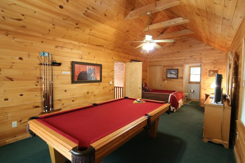 regulation size pool tableupper level