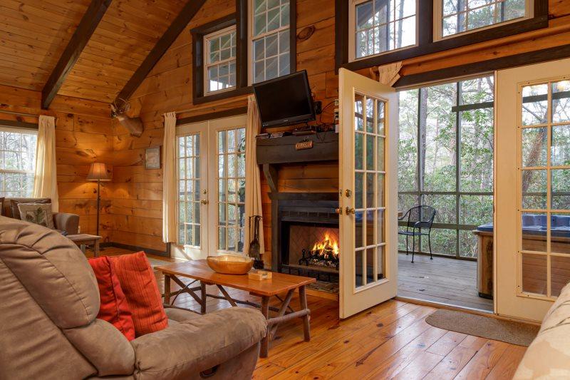Helen, GA Cabin Rentals   Mountain Haven  Rustic Cozy Cabin Near ...