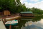 Private Dock with Paddle Boat and Jon Boat