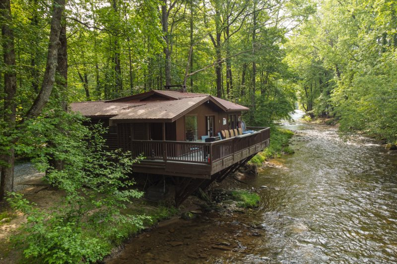 Helen, GA Cabin Rentals | River's Edge | 2 BR Cabin on the Chattahoochee