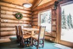 Pull up a chair and enjoy a meal from the comfort of your private cabin at the dining room table.